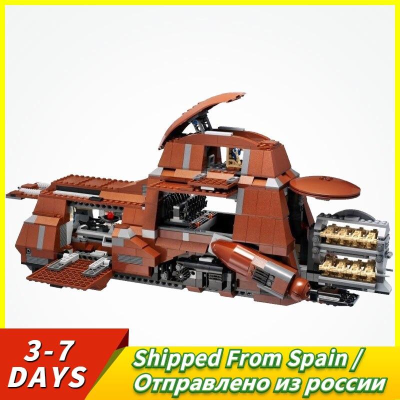 Starwars Series Trade Federation MTT Set Model 1338Pcs Blocks Toys For Kids Star Wars Destroyer Batter