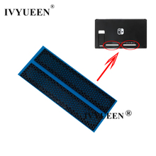 IVYUEEN 1 Pair for Nintend Switch Console Dust Proof Net Sticker for Nitendo Switch Back Shell Left and Right Cooling Network