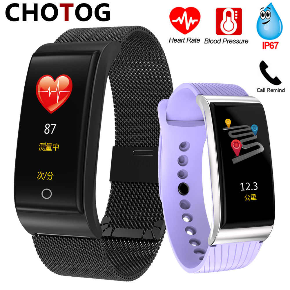 Inseguitore di Fitness Watch Band Intelligente Del Braccialetto Uomini Donne Monitor di Frequenza Cardiaca Fitness Braccialetto Misurazione della Pressione Intelligente Della Vigilanza Della Fascia F4