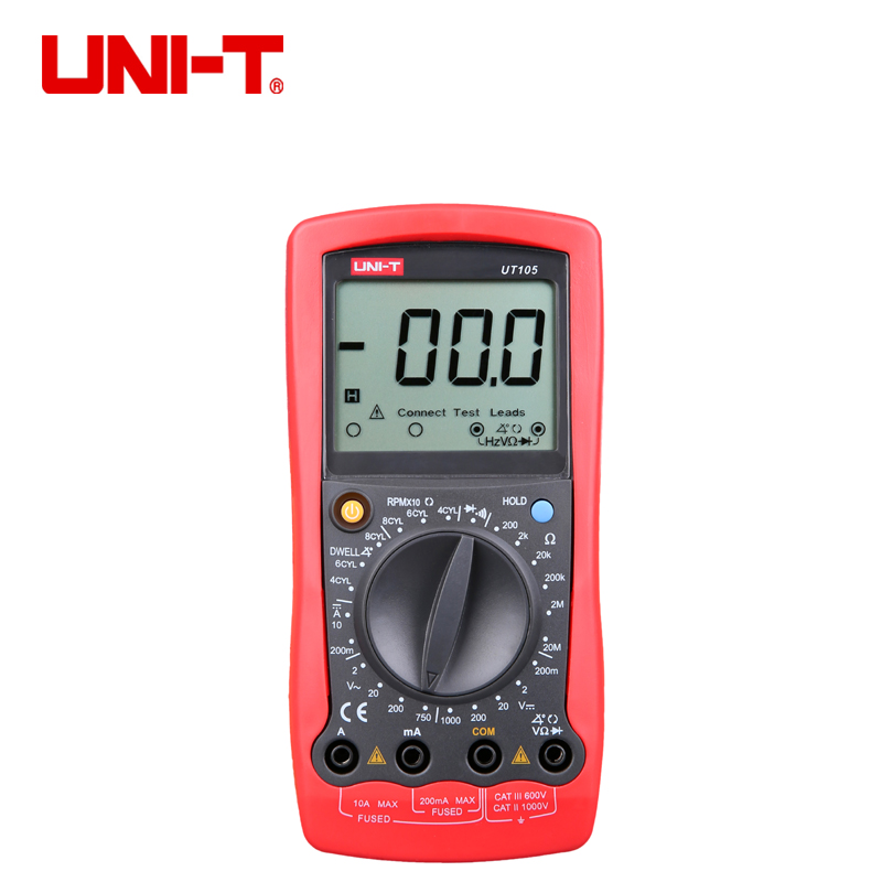 Uni-T <font><b>UT105</b></font>/UT107 digital multimeter Duty cycle tester esr meter transistor testers automatic multimetro profesional car image