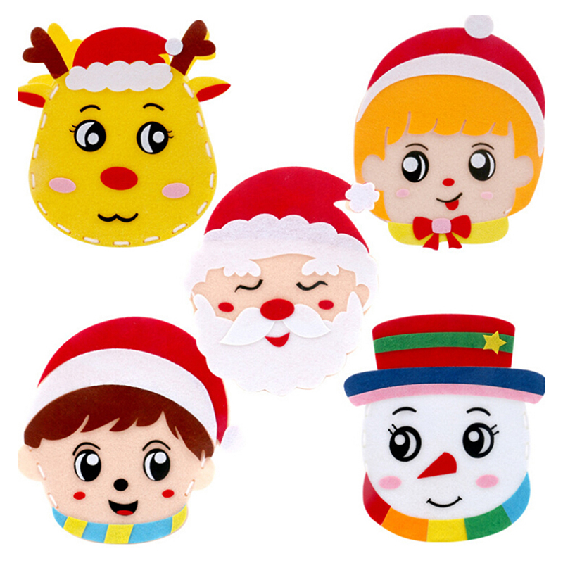 New Christmas DIY Felt Fabric Craft Kit Handmade Handbag Handicraft Material Educational Toys For Kids Kindergarten