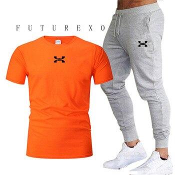 2020 New Hot-Selling Summer T-shirt+Pants Set Casual Top Brand Fitness Jogger Pants T shirt Hip Hop Fashion Mens Tracksuits