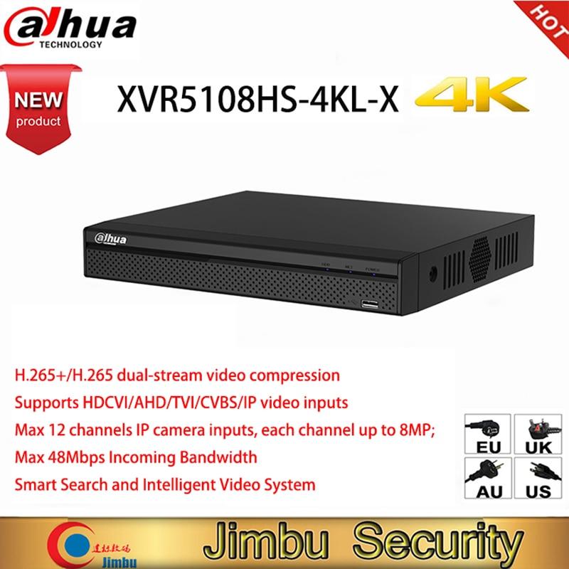 Dahua oryginalna wersja angielska 4K XVR5108HS-4KL-X 8 kanał penta-brid 4K kompaktowy 1U cyfrowy wideorejestrator kamera DVR HD CCTV