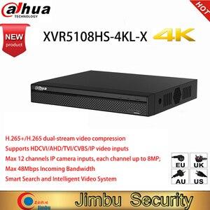 Image 1 - Dahua oryginalna wersja angielska 4K XVR5108HS 4KL X 8 kanał penta brid 4K kompaktowy 1U cyfrowy wideorejestrator kamera DVR HD CCTV