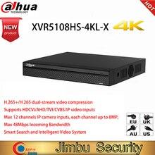 Dahua version anglaise originale 4K XVR5108HS 4KL X 8 canaux penta brid 4K Compact 1U enregistreur vidéo numérique caméra DVR HD CCTV