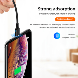Image 3 - Magnetic Dual Type C Cable 5A PD Fast Charging Wire For Notebook 20V 100W Type C Data Cable For Samsung S9 S8 For Huawei P20