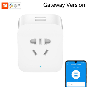 Image 1 - New Xiaomi Mijia Smart Socket Bluetooth Gateway Edition/2 Dual USB Smart WIFI Socket Power Adapter Mijia Smart Home Device