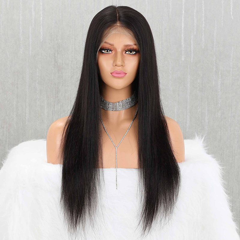 Yeahwigs 13*6 Straight Fake Scalp Wig 150% Remy Natural Hairline Lace Front Human Hair Wig For Black Women