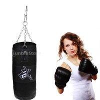Boxing Bag Home Punching Sandbags Martial Art Kickboxing Training Black 100