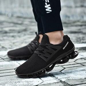 Image 4 - Big Size 36 48 letnie męskie trampki moda wiosna buty outdoorowe męskie obuwie męskie wygodne buty z siatką dla mężczyzn