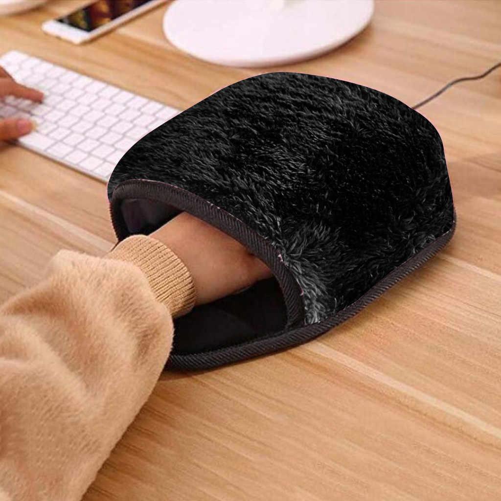 Usb aquecido mousepad tapete mousepad mause alfombrilla ordenador mão mais quente com wristguard inverno quente tapete de rato porta usb