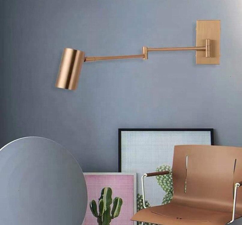 Скандинавский постмодерн Дизайн бра светильник простая лента стеклянная современная настенная лампа Ins ветровая синяя белая серая стеклянные настенная лампа для дома - 5