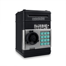 Электронная копилка-банкомат с паролем, копилка для банкнот и монет, сейф для сбережений, автоматический депозит купюр в подарок на рождест...