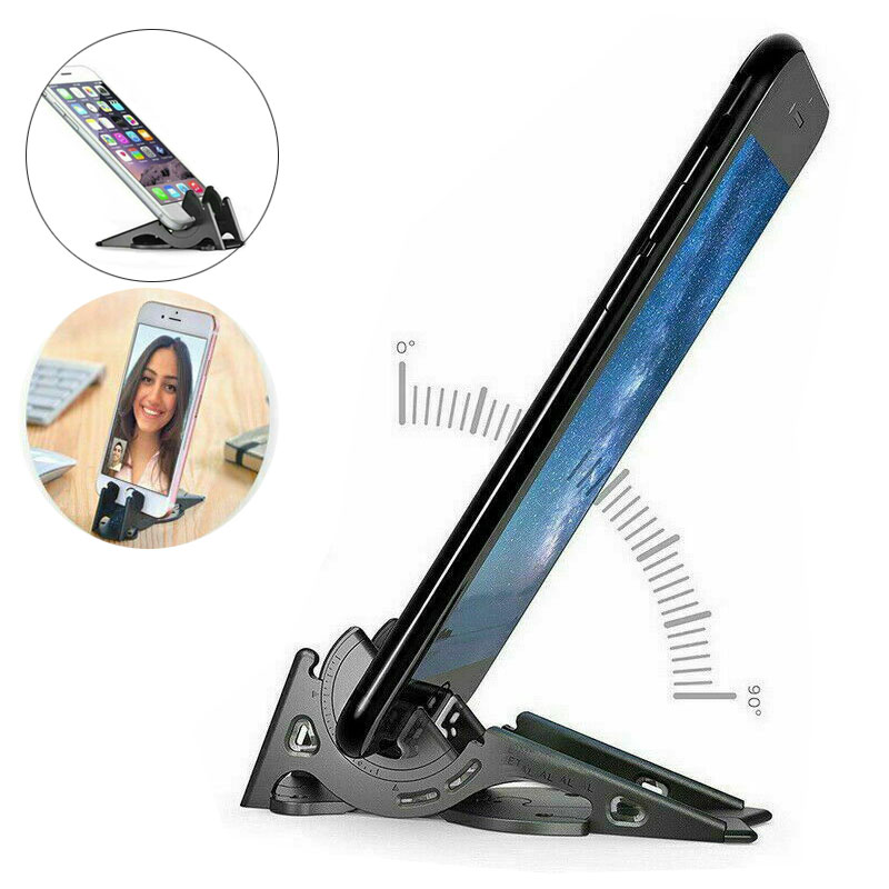 Stabilizes Foldable Rotation Card Type Stable Pocket Tripod Universal Mobile Phone Holder Folding Phone Stand Adjustable Stand