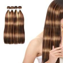 Peruca feminina destacando rendas frente longa cor marrom perucas do cabelo humano feminino feixes de cabelo braizlian qualidade superior tecer pacotes
