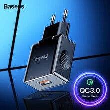Baseus Quick Charge 3,0 2,0 USB зарядное устройство для iPhone Xiaomi samsung huawei QC3.0 QC быстрое зарядное устройство Turbo настенное зарядное устройство для мобильного телефона