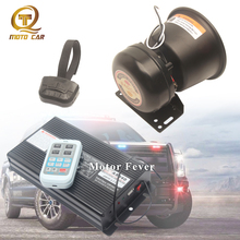 Universal Auto Alarm Horn Siren Electric for Car Wireless Megaphone Speaker 400W MIC System Police Tone Sound Truck