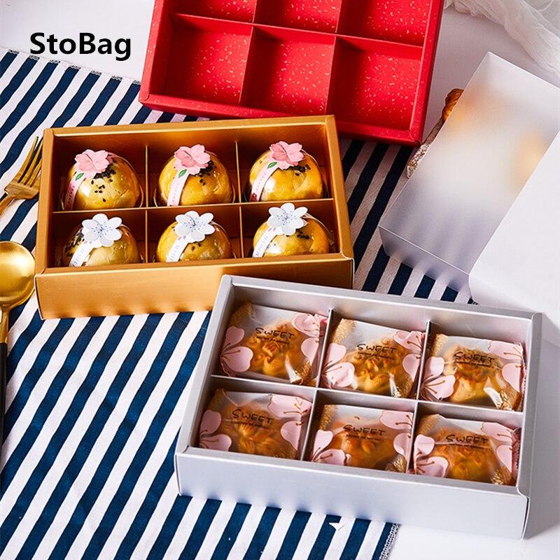 StoBag 10pcs Can Hold 6pcs Egg Yolk Crisp DIY Handmade Baking Biscuit Nougat BIrthday Party Wedding Gift Packaging Supplies