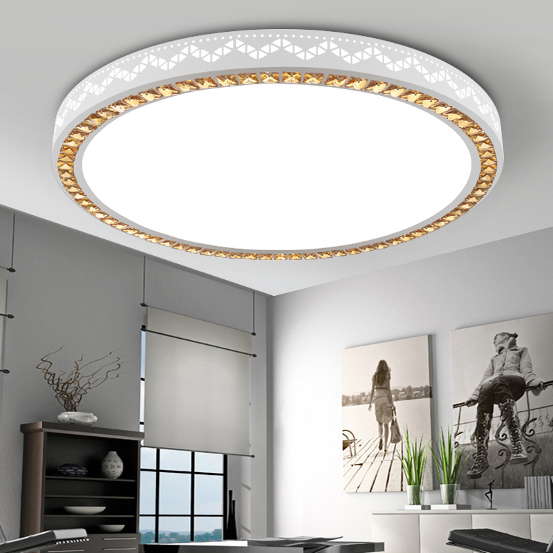 LED Ceiling Lamp Circle Acrylic Living Room Lamps Glorious Master Bedroom Restaurant Light Remote Control Adjustable Light