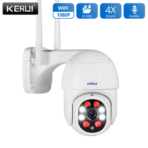 KERUI HD 1080P Wifi IP Camera Home Security Outdoor PTZ Surveillance Cameras Full Color Night Vision Motion Detection Alarm(China)