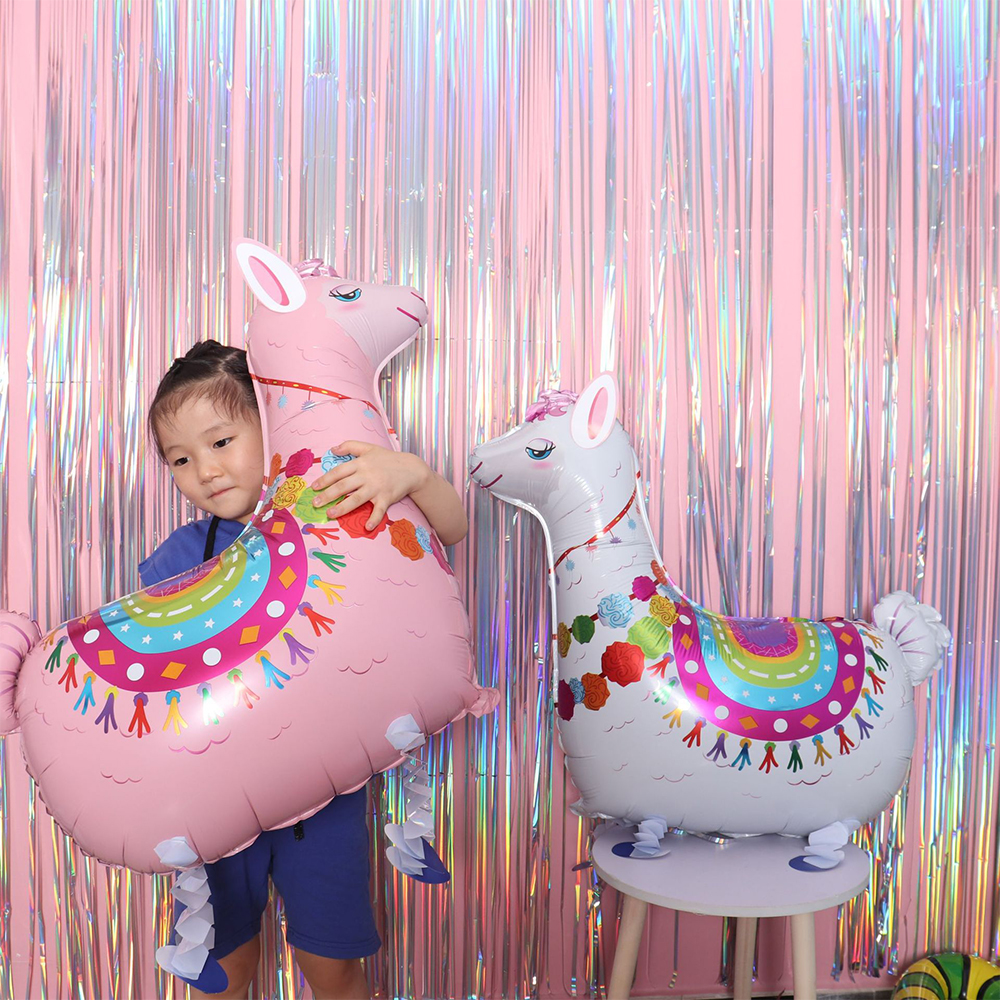 Party Decorations Supplies 3D Large Walking Animal Foil Balloons Girls Birthday Theme Party Decor Favors