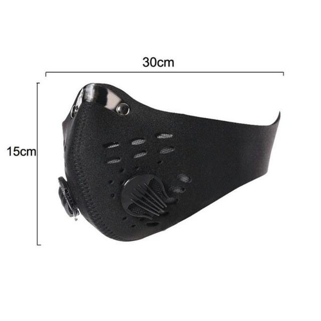 Hot 1pcs Bike Face Cover Mask With Filter Unisex Sport Mouth Cover Respirator Mask Dust Windproof Masks Cycling Riding Facemask 4