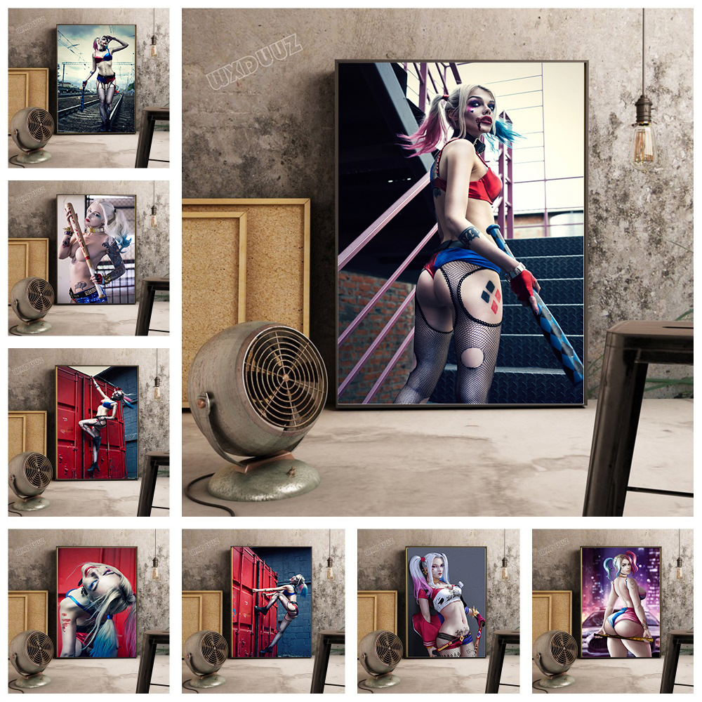 Harley Quinn Poster Batman The Batman Adventures Movie Poaster DC Decorative Painting Oil Painting Film Harley Canvas Wall Art image