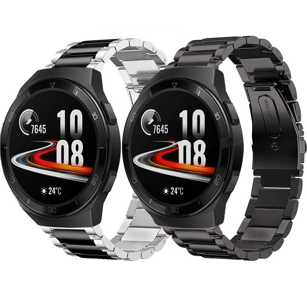 Conjuntos de correa de reloj para Huawei GT 2E / Honor watch Magic /Huawei GT 2 GT2 46mm 22mm pulsera de Metal de acero inoxidable correa de muñeca Correa de cuero para mi band 4 3, correa de pulsera de Metal para xiaomi band 4, pulsera deportiva transpirable para mi band 4, pulsera xiaomi