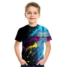 Najnowsze Graffiti 3D drukowane T Shirt chłopiec i dziewczynka wiele kolorów Casual O-Neck krótki rękaw śmieszne piękne Streetwear T-Shirt tanie tanio POLIESTER CN (pochodzenie) CZTERY PORY ROKU 4-6y 7-12y 12 + y Dziewczyny moda Drukuj REGULAR Dzieci Z okrągłym kołnierzykiem
