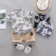Baby Boy Clothing Set Cute Summer T-Shirt Fashion Print Children Boys Clothes Shorts Suit for Kids Outfit Denim Outfit 2018 summer children clothing baby boy fashion cotton sleeveless star print top denim shorts baby boys clothing suit 2pcs s2