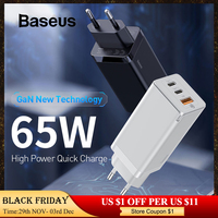 Baseus GaN PD 3.0 Fast USB Charger For iPhone 11 Pro Max Support AFC FCP SCP QC 3.0 For Samsung S10 Plus Huawei P30 Pro Xiaomi