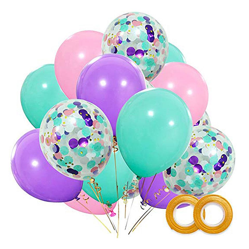 12 inch 10color foil confetti latex balloon helium wedding birthday party decorV