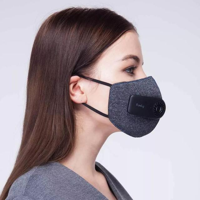 New Original Xiaomi Purely Air Pollution Mouth Face Mask Rechargeable Anti Dust Air Breathing Purifier Mask PM2.5 Filter Mask 3