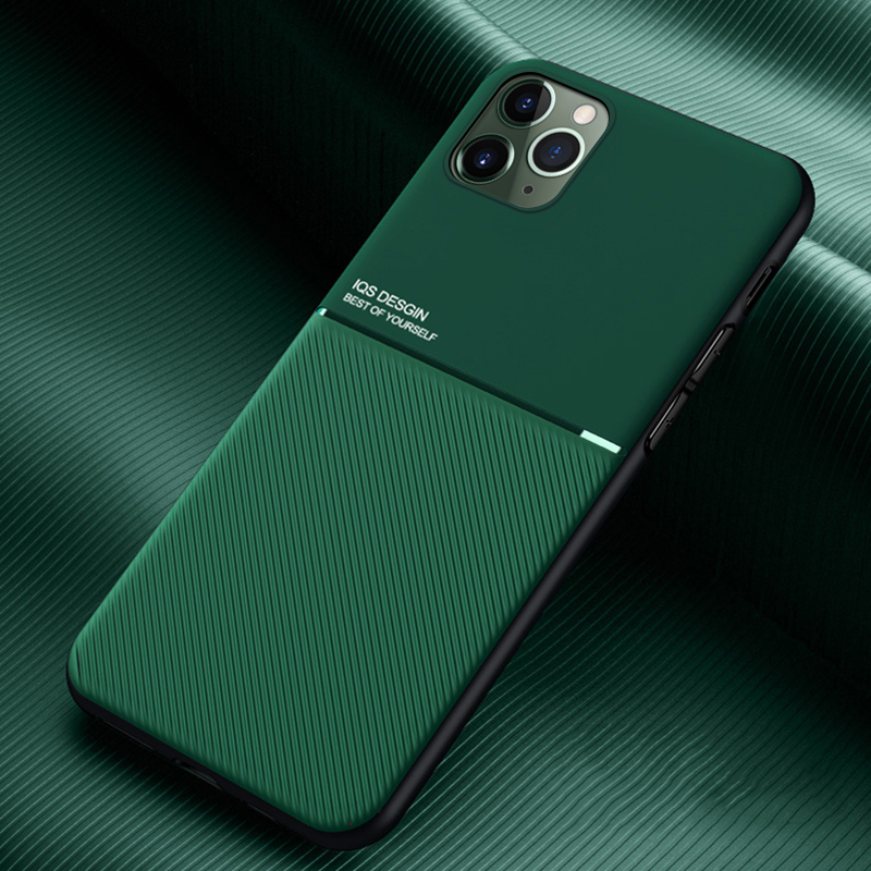 LOVECOM Phone Case For IPhone 11 Pro Max XR XS Max 7 8 6 6S Plus X Solid Color Streak Soft TPU Leather Adsorbed Back Cover Coque