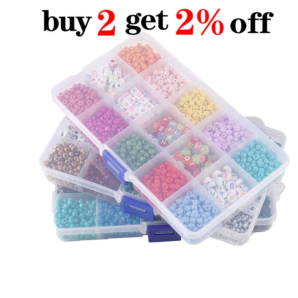 2020pcs Mix color Letter Beads Jewelry Making Supplies Kit Beads Wire for Bracelet DIY Earrings Making Kit Jewelry Finding 2