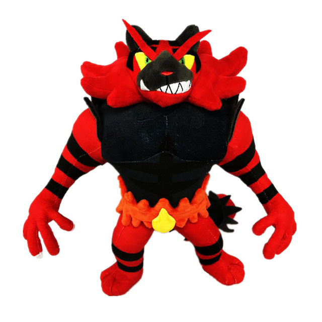 30cm Evolution Incineroar Cartoon Anime Figure Toy Plush Stuffed Collectible Toy Christmas Gift Christmas Toys for Children