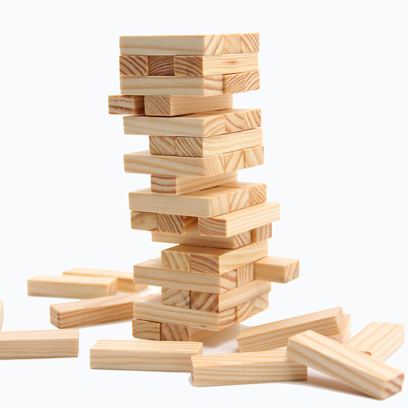 Kids Blocks Wooden Stacking Tumbling Tower Game Like Kids Family Traditional Board New