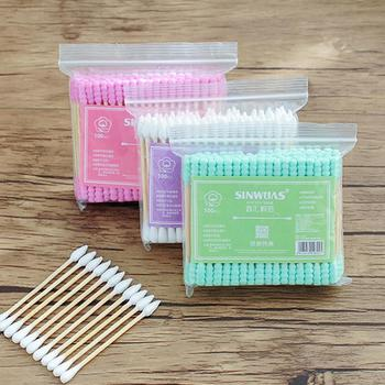 100Pcs Disposable Double Head Cotton Swab Women Makeup Cotton Buds Tip Cleaning Applicator  Ears Cleaning Health Care Tools