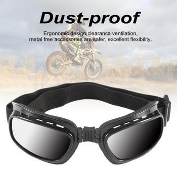 Motocykl wielofunkcyjne okulary składane Motocross okulary przeciwmgielne wiatroszczelne gogle narciarskie Off wyścigi drogowe okulary tanie i dobre opinie 60 -80 CN (pochodzenie) 40 -60 Dekoracyjne folia i tatuaże
