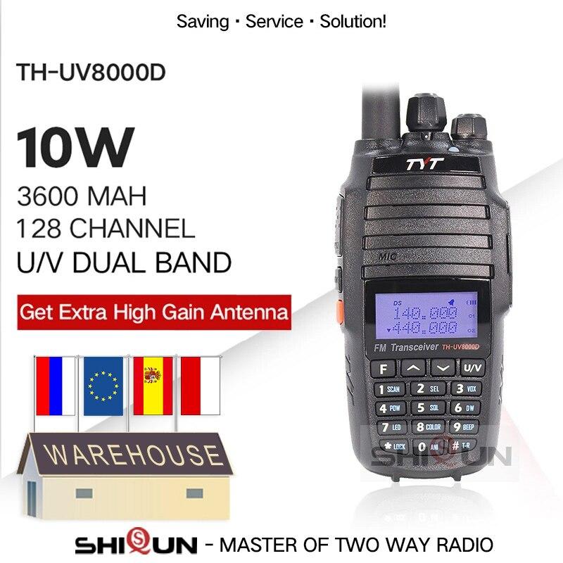 TYT TH UV8000D рация 10 км двухдиапазонный VHF UHF 10 Вт Радио Comunicador 10 км 3600 мАч поперечный ретранслятор функция радиоприемник tyt|10w radio|tyt radiotyt th-uv8000d | АлиЭкспресс