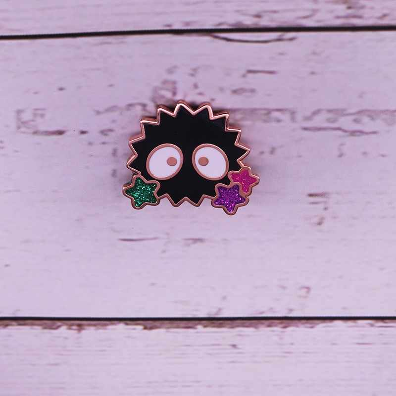 Spirited Away Soot Sprite Enamel Lapel Pin สตูดิโอ ghibli ตัวอักษร pin badge