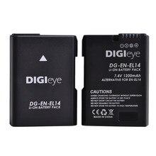 7.4V 1200Mah EN-EL14 EN-EL14A ENEL14 Batterij Voor Nikon D3100 D3200 D3400 D5100 D5300 D5600 Df Coolpix P7000 P7100 p7800