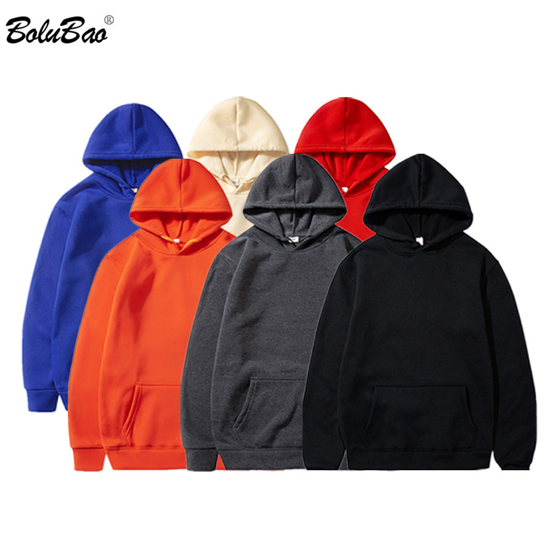 BOLUBAO Men's Solid Color Hoodies Spring Slim Fit Men Fashion Street Hoodies Wild Pullover Light Thin Male Hoodies Sweatshirts