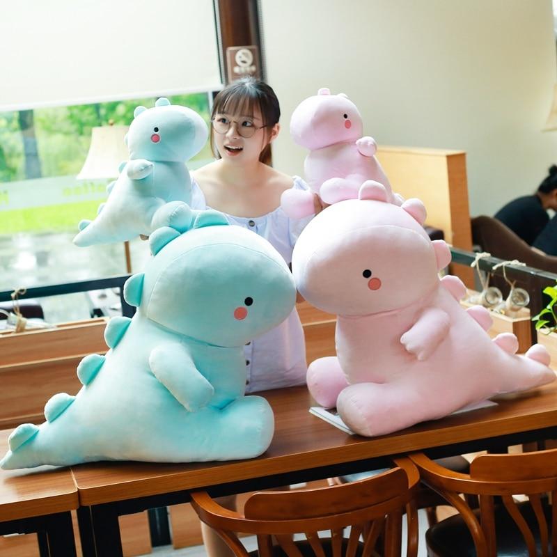 Модная мягкая плюшевая игрушка динозавр, милая мультяшная плюшевая кукла, кавайная мягкая игрушка-динозавр, стильный декор для комнаты, под...