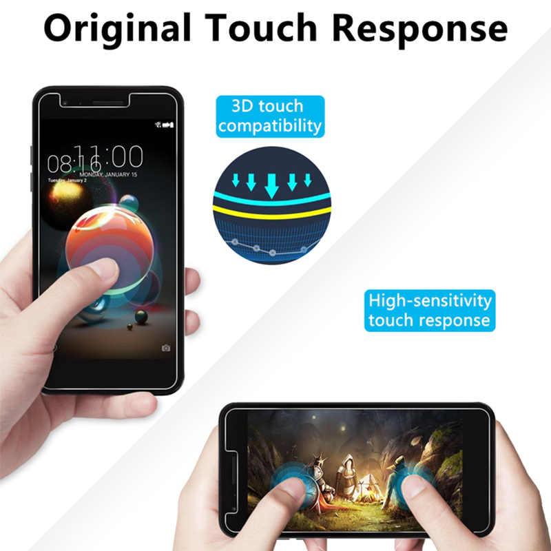 9H HD Transparan Kaca Pelindung untuk LG Q8 Q7 Q6 Stylus 3 2 Plus Screen Protector Pada LG V40 v30 V20 V10 X Power Tempered Glass