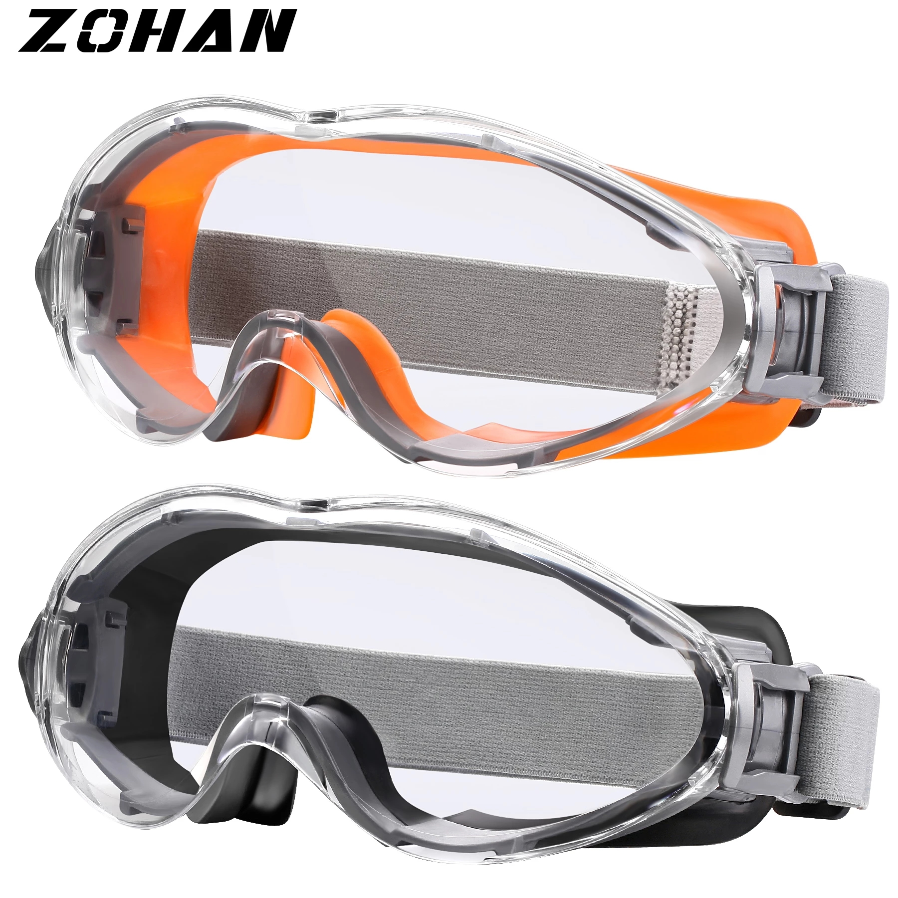ZOHAN 2PCS Safety Glasses Protective Goggles Anti-UV Waterproof Tactical Sport Protection Glasses Eyewear Eye Protection Riding