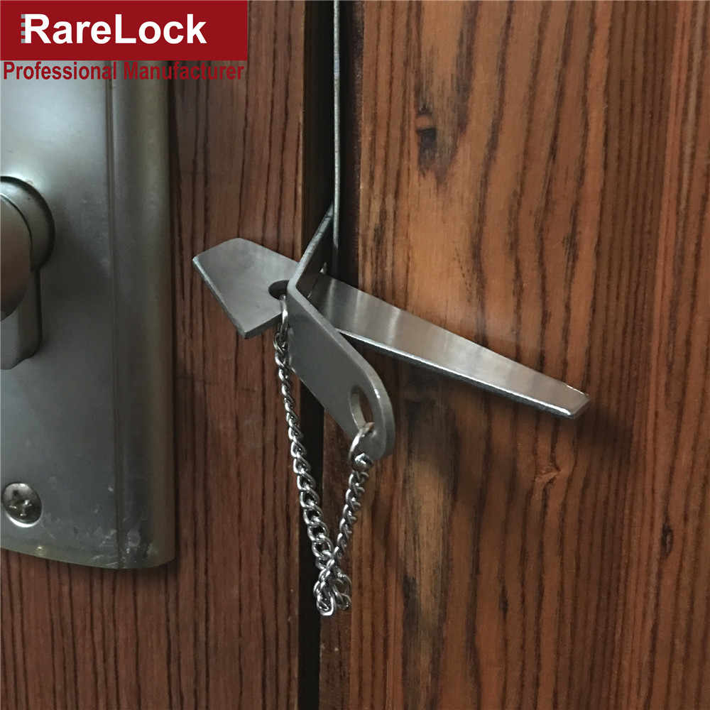 Rarelock Stainless Door Lock Security Hasp Latch Lock for Home Security Travel Supplies Easy In Women Bag MMS304 dd