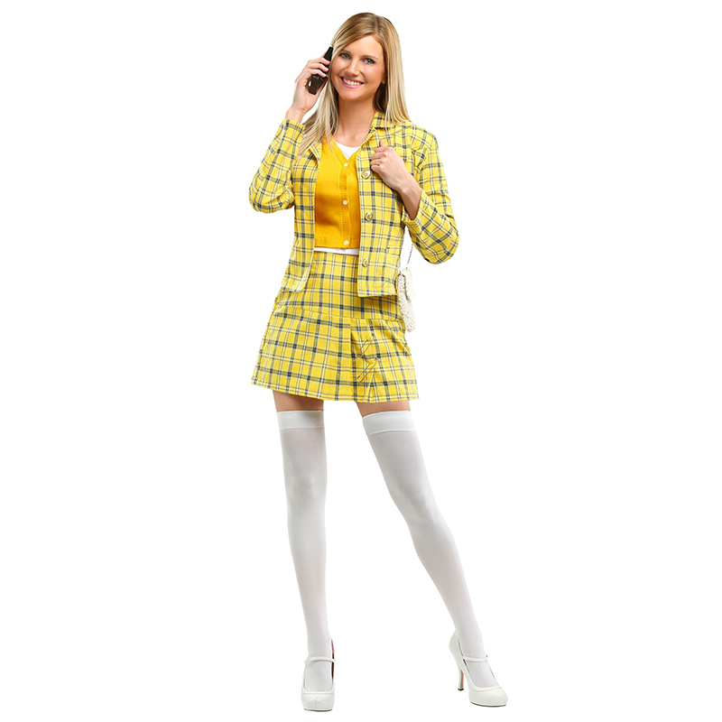 Checkered Clueless Cher Women's 90s Movie Alicia Silverstone Wear Valley Girl Cosplay Costumes|cosplay costume|girl cosplaywomens cosplay costumes - AliExpress