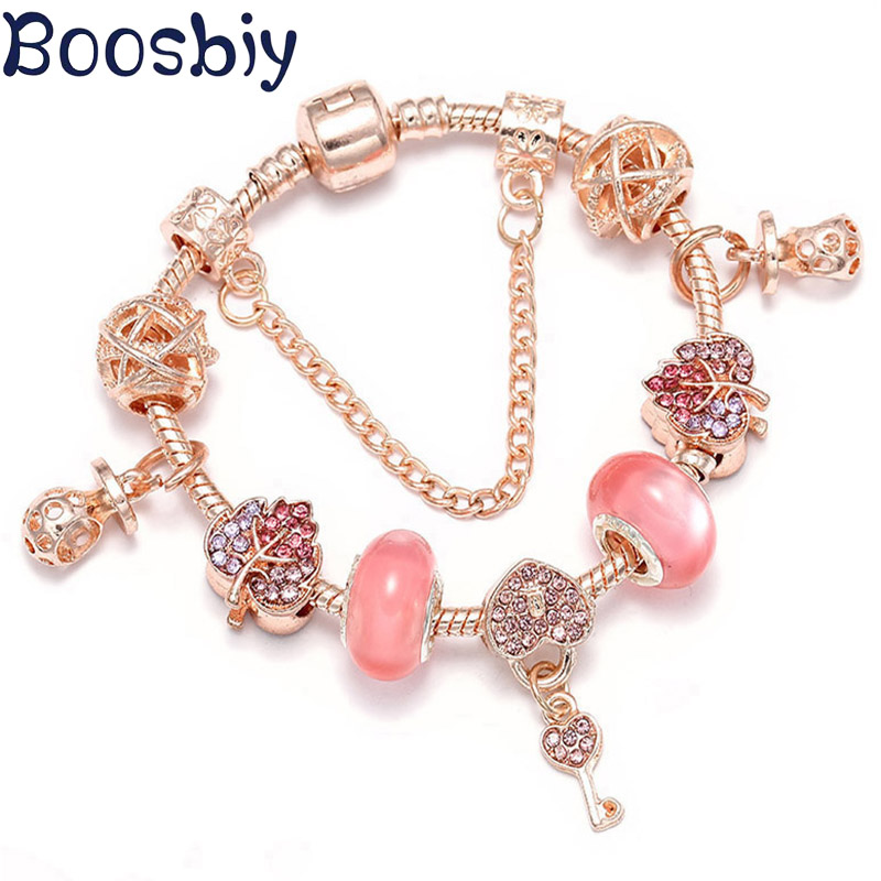 Rose Gold Charm Bracelets