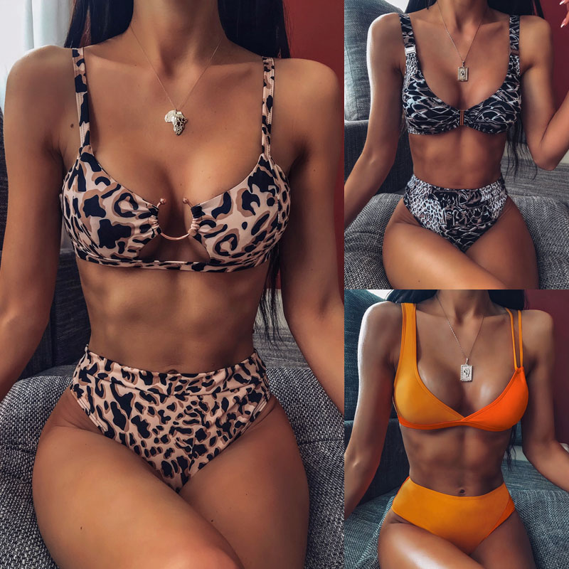 High Waist Bikini 2019 Sexy Women Swimsuit Swimwear Female One Shoulder Thong Brazilian Bikini Set Biquini Bathing Suit